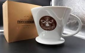 The First Starbucks Seattle Pike Place Pour Over Ceramic Dripper Coffee Maker