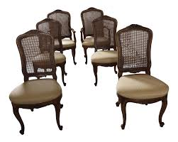 Henredon French Provincial Cane Back Dining Chairs 6, Henredon ... Set Of Four Ethan Allen Cane Back Ding Chairs Ebth Chair Fniture Outlet Atlanta Fair Eastgate Row Spokane Room French Provincial Cane Back Ding Chairs Thomasville Room Ideas Eight Mid Century Modern S8 Milo Baughman New Fabric Chrome Pair Vintage French Country Arm 2 Ideas On For Sale Au Uk Pwick Antiques English And Montgomery Alabama Fishmag