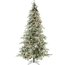 8 Ft Mountain Pine Artificial Christmas Tree by Amazon Com Fraser Hill Farm Flocked Mountain Pine With Clear Led