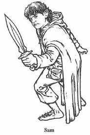 Samwise From Lord Of The Rings Coloring Page To Print Online