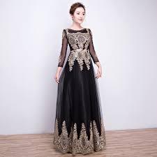 online get cheap black sparkly long dress aliexpress com