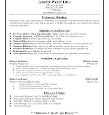Medical Billing Resume Examples Here Are