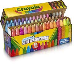 Amazon.com: Crayola Sidewalk Chalk, Washable, Outdoor, Gifts For ...