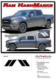 100 Ram Truck Decals RAM HASH MARKS 2019 Dodge Hood Double Bar Stripes Vinyl