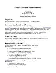 Secretary Resume Examples Good Legal Job Description At A76064