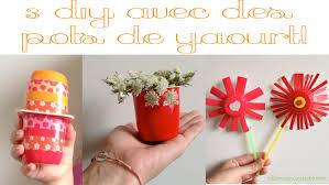 pot de yaourt recyclable 3 diy faciles et rapides pour les enfants avec des pots de yaourt