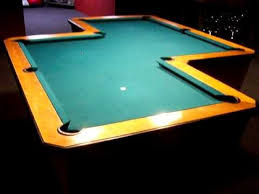 crazy z shaped pool table unique odd pool table come play a game