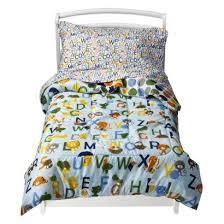 amazon com circo toddler 4 piece abc bedding set blue home