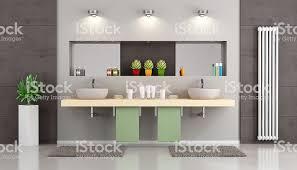 modernes badezimmer mit doppelwaschbecken stockfoto und mehr bilder badezimmer