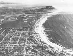 Early 1950s View Looking South Across Pacific Beach Mission Point Loma And Into Mexico Note The Mexican Coronados Islands Offshore In Upper