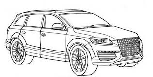 Free Audi Q7 Coloring Pages Suv A4 Colouring To Print Street Car