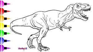 How To Draw A Dinosaur From Jurassic World For Children Shark Coloring Page Kids