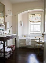 pink shabby chic bathroom with arched tub alcove cottage bathroom