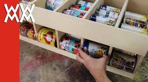 Make a canned food dispenser Get organized