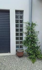 pour mur exterieur colonne de brique de verre sur mur extérieur pour pool house