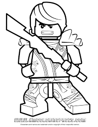 Lego Ninjago Zane Colouring Page