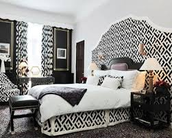 Decoration Black And White Room Decor Bedroom Pattern Design