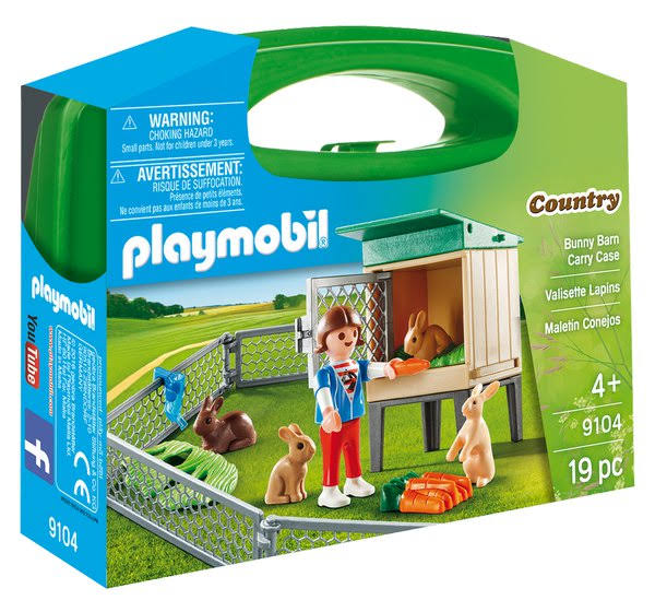 Playmobil 9104 Bunny Barn Carry Case Toy Set