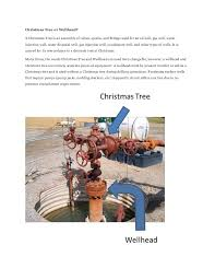 Christmas Tree Or Wellhead A Is An Assembly Of Valves Spools
