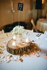 Rustic Table Decorations Wonderful Wedding In With