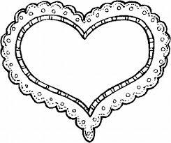 Superb Heart Shape Coloring Pages Valentine Color