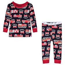 GAP - Navy Fire Truck Pyjamas - Babyshop.com