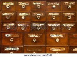 Antique apothecary chest of drawers UK Stock Royalty Free