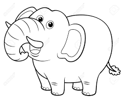 Illustration Of Cartoon Elephant Coloring Book Stock Vector 17120700