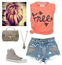 Tumblr Swag Studded Shorts Outfit Summertime OutfitsCute Summer