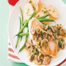 cuisine escalope de dinde escalope de dinde à la crème et chignons recettes de cuisine