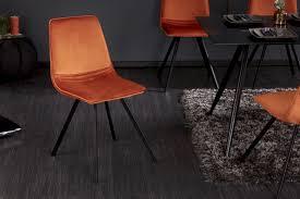 retro stuhl amsterdam chair orange samt designklassiker riess ambiente de