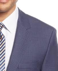 hugo plaid suit by hugo navy tonal check suit suits suit separates