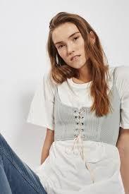 petite corset t shirt tunic topshop europe