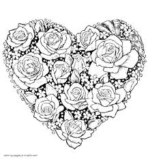 Full Size Of Coloring Pagesheart Page Pages Heart And Rose 3