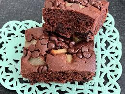 schoko birnen brownies