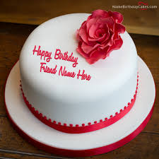 red rose friends birthday and birthday wishes image birthday cakes