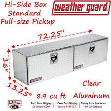372-0-02 WEATHER GUARD Aluminum Hi-Side Box Top Mount 72