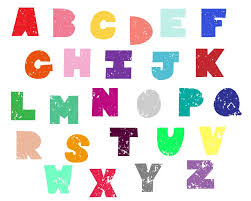 Free Distressed Chunky Uppercase Alphabet 26 Letters A Z