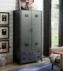 Ziva Industrial Dark Gray Metal Armoire | The Classy Home | The ... Armoire 2 Portes En Mtal Rouge Rouge Lofter Les Armoires New Designer 4 Doors Steel Almirah Wardrobe Metal Cabinets Two Door Drawer Wardrobearmoire Stains Shelves And Slide Heavy Duty Commercial Use Ess Universal Metal Armoire Wardrobe Abolishrmcom Casier Ikea Home Design Architecture Cilifcom Arch De Bin And 7 Storage Cabinet With Bins On The Wardrobes Suppliers Manufacturers At Dollhouse Vintage White Cast Miniature