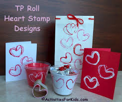 Toilet Paper Roll Shaped As A Heart Use The Stamp To Create Crafts And