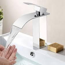 eleganter wasserhahn bad wasserfall woohse badarmatur waschtischarmatur für bad waschbecken einhand waschtischbatterie armatur bad kalt