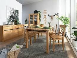 massivholz esszimmer set komplett 7teilig kiefer gelaugt geölt neu tisch gruppe ebay