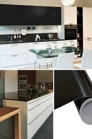 möbelfolie küche klebefolie küche schwarz klebefolie