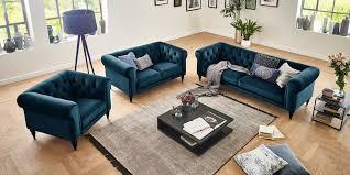 3 2 1 sofa chesterfield türkis petrol samt hudson moebella24
