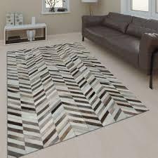 teppich günstig kreis design modern wohnzimmerteppich grau