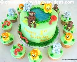 Jungle Cake Topper Safari Baby Shower Jungle Safari Cake Etsy