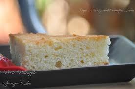Basic Pineapple Sponge Cake No Egg No Butter Version