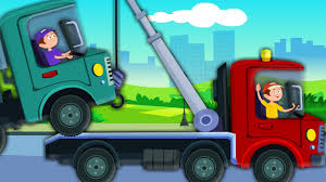 100 Truck Song Tow Vehicles Car Rhymes For Kids And Childrens