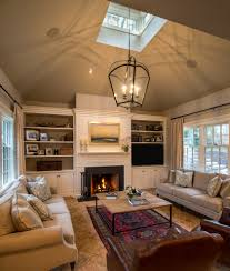 Living Room With Fireplace And Bookshelves by Built Ins Around Fireplace Family Room Traditional With Black