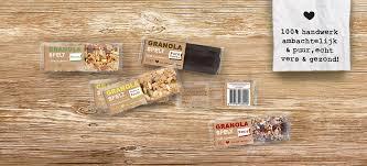 Client De Firma Taart Location Netherlands Amsterdam Packaging Contents Granola Bars Materials Carton Flowpack